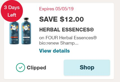 graphic regarding Herbal Essences Coupons Printable named Contemporary $12 Natural Essences bio:renew Coupon $1.45 Every!