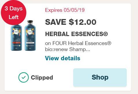 picture regarding Herbal Essences Coupons Printable identified as Fresh new $12 Organic Essences bio:renew Coupon $1.45 Every single!
