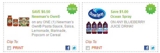 Ocean spray juice printable coupon 2018