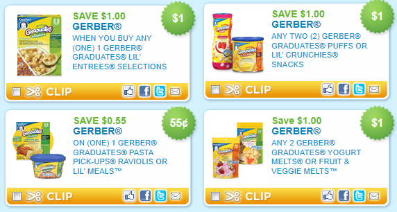 Gerber Baby Food Coupons By Mail