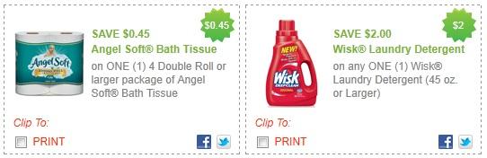 Printable coupon angel soft bath tissue