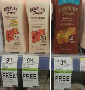 Hawaiian tropic suntan lotion coupons
