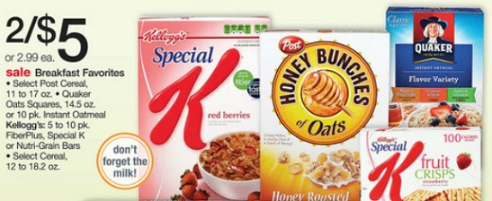 This week is a great time to stock up on cereal thanks to the buy 3, get 1 FREE sale at Target. There are coupons and Cartwheel offers which make for some pretty nice savings.