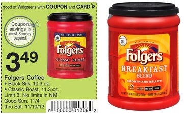 folgers coupons by mail