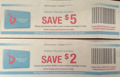 Stock up Walgreens coupons