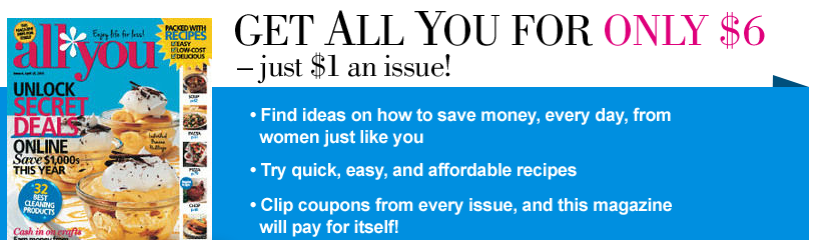 Printable Coupons and Deals – All You Magazine CODES Get Deal At Printable Coupons and Deals, we do our best to post all the printable coupons and deals we can find that will save you money. We are a family of 6, so every dollar has to stretch. Our hope is when we share printable coupons and deals, it helps you save money.