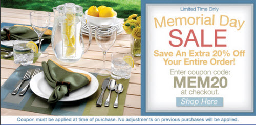 Oneida Memorial Day Sale