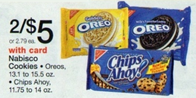 Oreo Cookies Sale (Wags 4-28)
