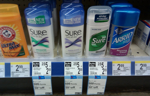 Sure Antiperspirant & Deodorant Solid Sale (Wags 5-12)