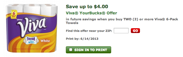 Viva Paper Towels coupon