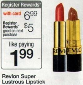 Revlon Super Lustrous Lipstick Sale (Wags 6-9)