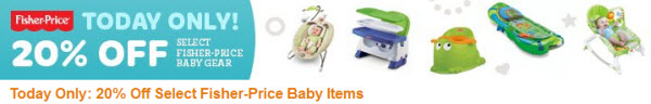 Amazon 20 pct Fisher-Price DOD