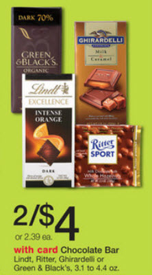 Green & Black's Chocolate Bar Sale (Wags 7-21)