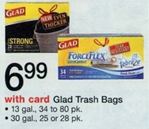 Glad Trash Bags Sale (Wags 8-4)