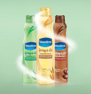 Vaseline Spray & Go Moisturizer