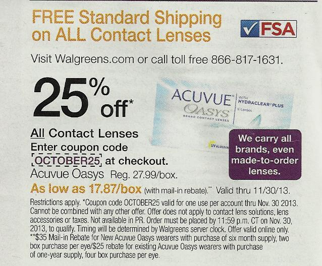 Coupon codes for walgreens contact lens