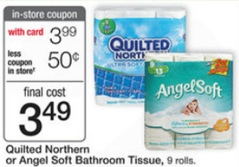 Quilted Northern or Angel Soft Bath Tissue Sale (Wags 12-8)