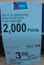 Suave lotion label-