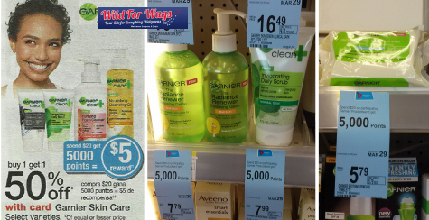 Garnier facial care coupons