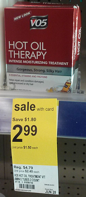 VO5 hot oil treatment just $1.99