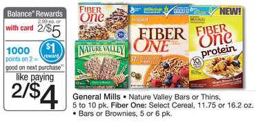 Fiber One Cereal just 87 cents