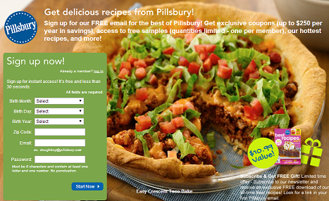 Pillsbury Coupons and free samples