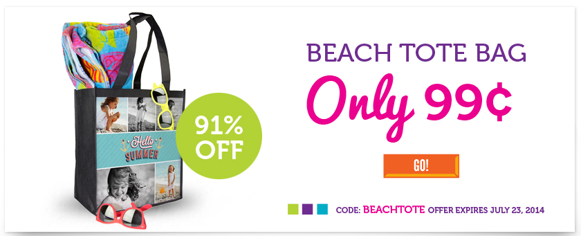 Custom Beach Tote Just 99¢