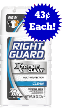 Right Guard just 43¢ each