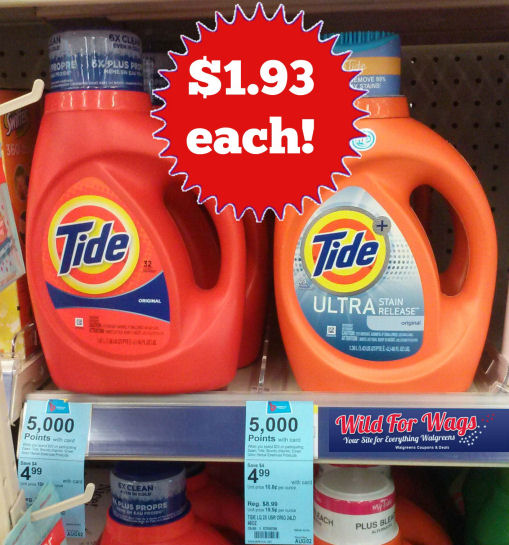 Tide Detergent Just $1.93 Each!