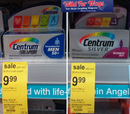 Centrum MultiVitamins As Low As $2.49 Each!