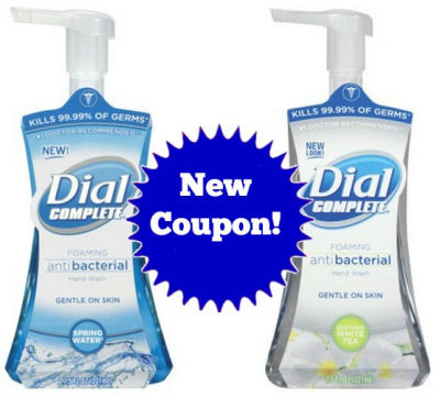 New Coupon for Dial Complete Hand Soap!