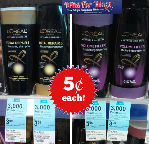 L'Oréal Advanced Shampoos & Conditioners 5¢ Each!