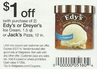 Edys Ice Cream Coupon Stack