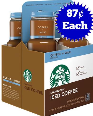 Starbucks 87 cents each 4pk