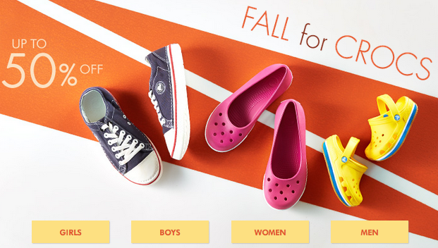 Crocs Sale - Save Up to 50% Off