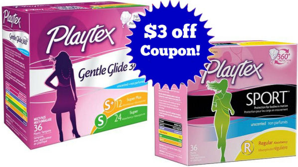 New $3 off Coupon for Playtex Tampons!
