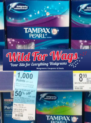 Tampax As Low As $1.47