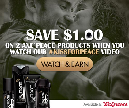 Axe Coupon #Kissforpeace