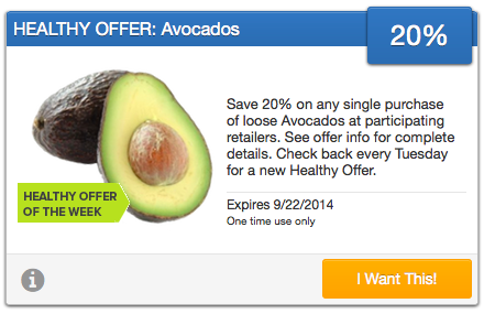 SavingStar Healthy Offers Avocados
