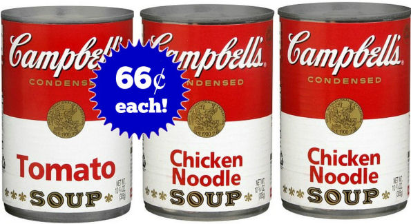 New Campbell's Soup Coupon to Stack -- Just 66¢ Each!