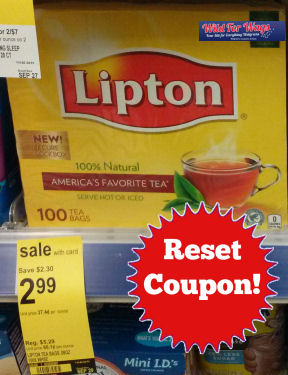 *Reset* Lipton Coupon -- Just 2¢ per Bag!