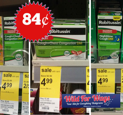 Robitussin for Adults Just 84¢ Each!