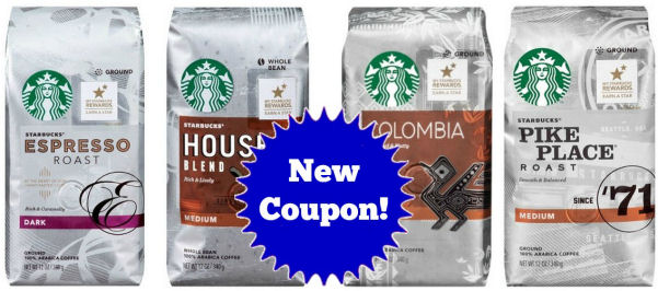 New Starbucks Coffee Coupon!