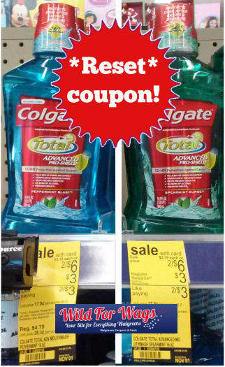 *Reset* Coupon for 50¢ Colgate MouthWash!