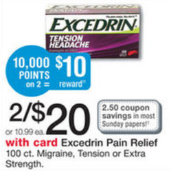 New Coupon for Excedrin Points Deal!