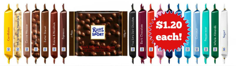 Ritter Sport $1.20 Each Next Week!