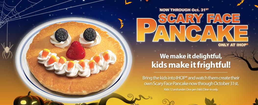 free ihop scary pancake