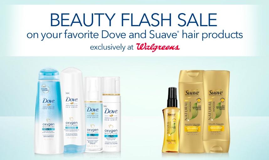 Dove and Suave Beauty Flash Sale