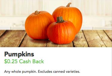 Pumpkins cash back