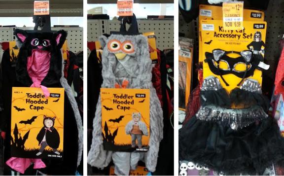 Halloween costumes at Walgreens